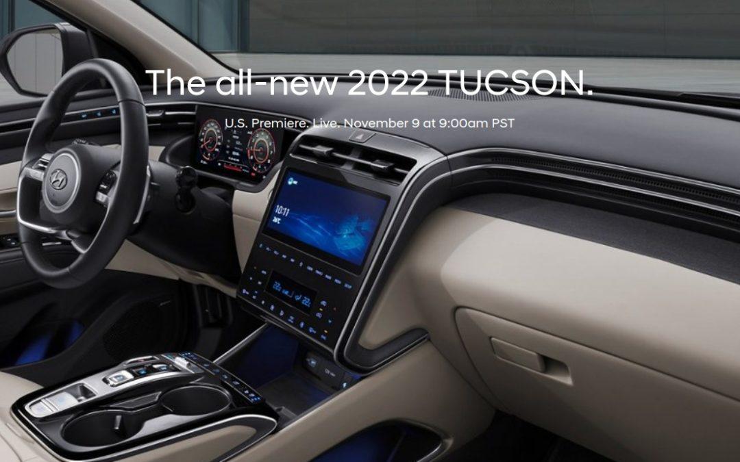 US-Spec 2022 Hyundai Tucson to Debut November 9