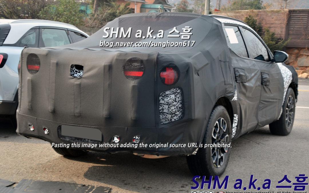 Hyundai Santa Cruz Spied in South Korea