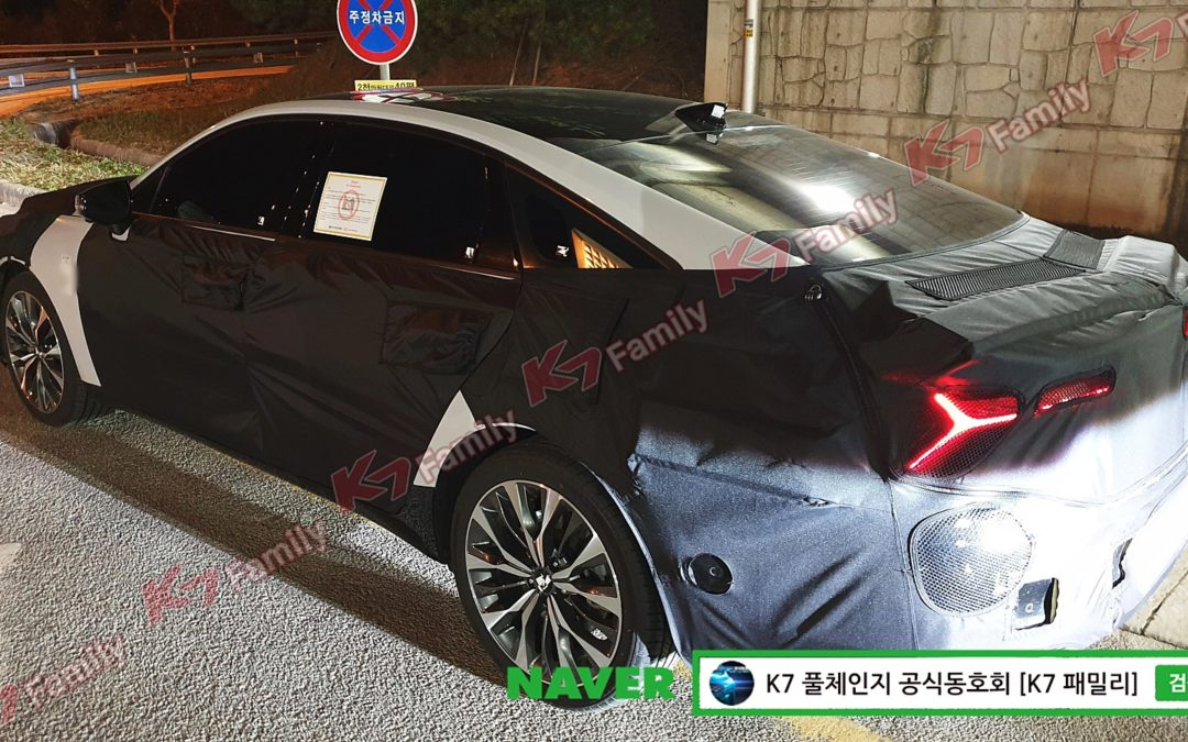Kia K8 P1 Prototype Spied for the First Time