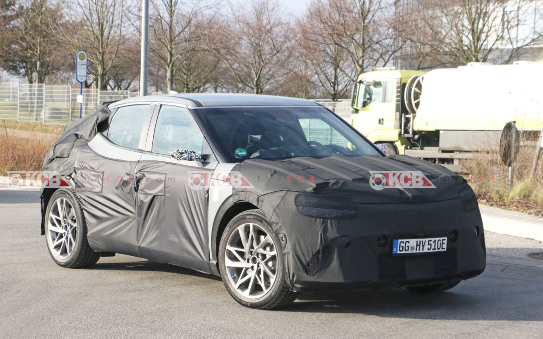 Genesis EV Crossover Spied in Europe w/ Camera Mirrors