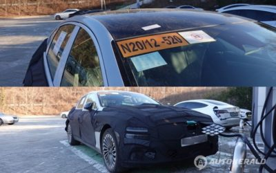 Genesis eG80 Spied Charging & with Solar Roof