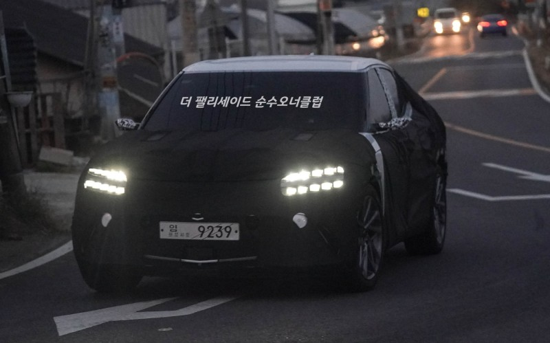 Genesis JW EV Crossover Spied with Production Lights
