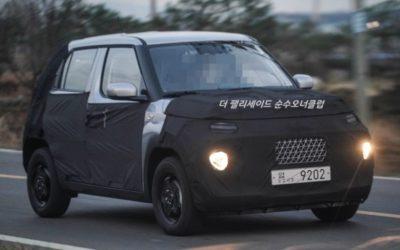 Hyundai AX1 Codenamed Small SUV Spied