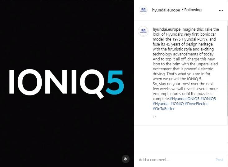 Hyundai Teases Again the IONIQ 5