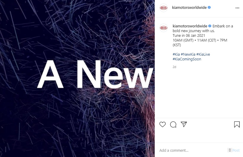 Kia Building Up for January 6th Bold New Journey, It's About New Logo