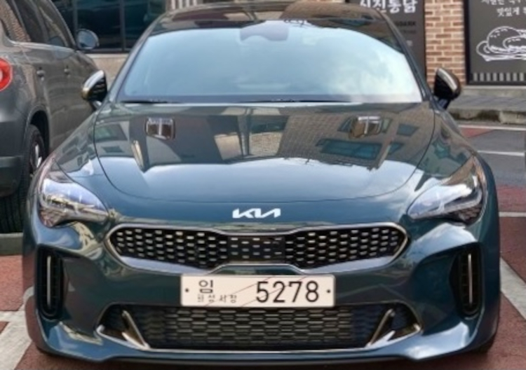 Is this the 1st Kia Stinger with the New Logo?