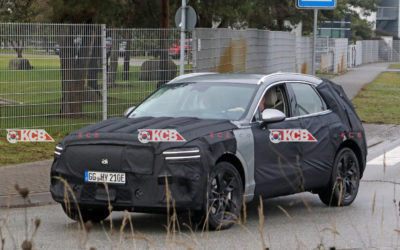Genesis GV70e Electric SUV Spied in Europe