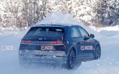 Hyundai IONIQ 5 Spied Undisguised in the Snow