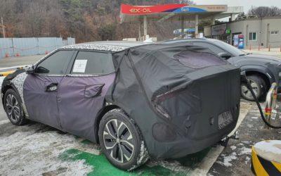 Kia CV Bespoke EV Crossover Spied
