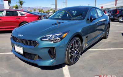 2022 Kia Stinger Shows Up On US Dealer Lots With New Color Option, Wearing New Corporate Logo