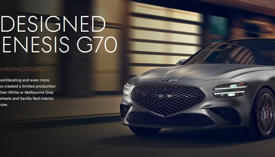 US-Spec 2022 Genesis G70 Set to be Revealed Today