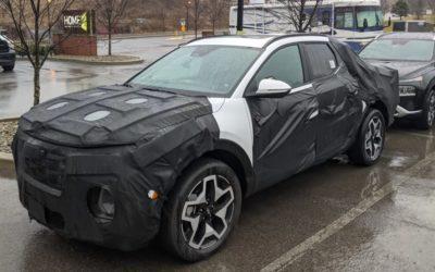 Hyundai Santa Cruz Caught in New Spy Pictures