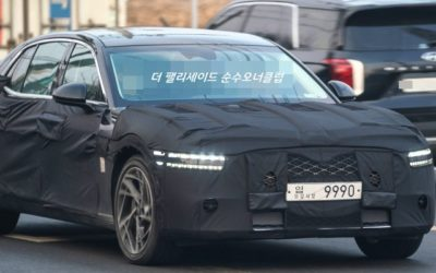 Next-gen Genesis G90 Spied with Production Lights