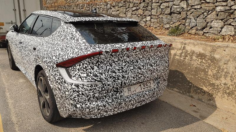 Kia EV6 Spied Ahead Tomorrow's Debut