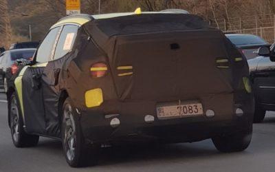 Genesis GV60 EV Crossover Spied w/ Unusual Color