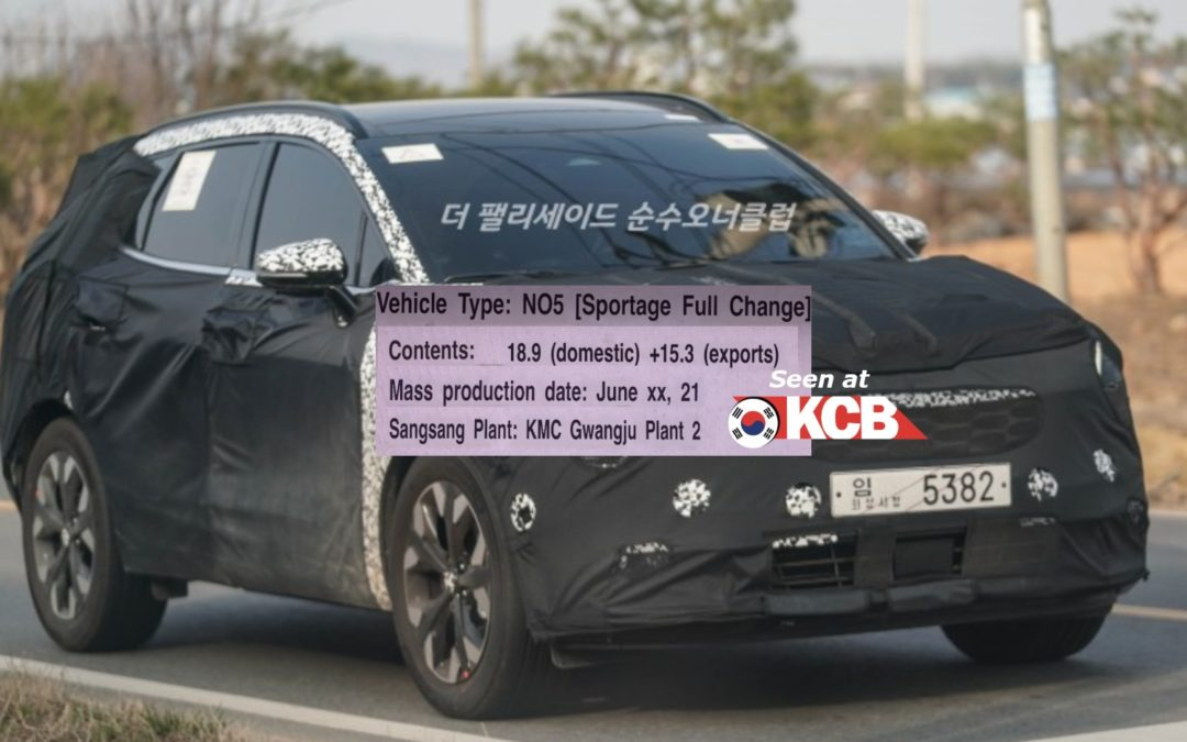 Kia Sportage NQ5 to be Released in June