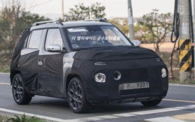 Hyundai AX1 Small SUV Spied in South Korea