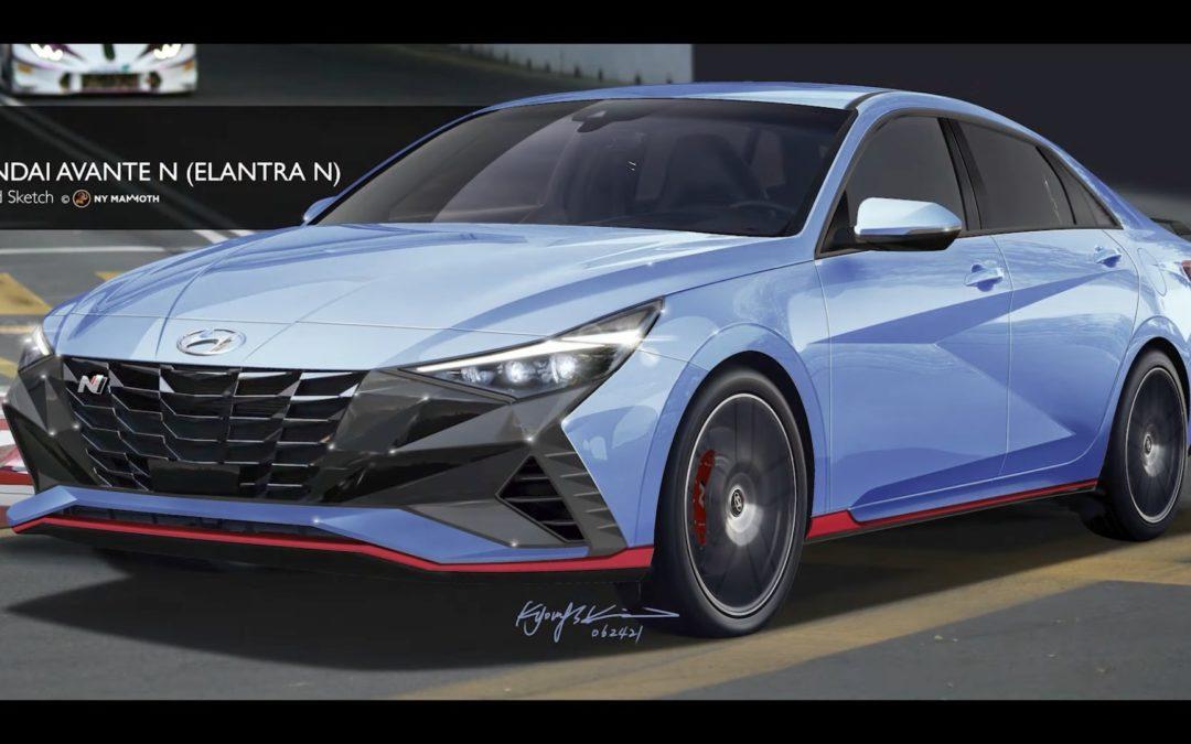 2022 Hyundai Elantra N Rendering