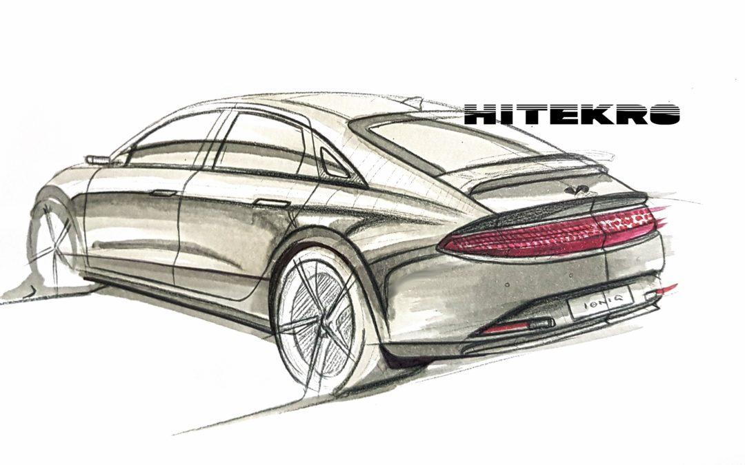 2022 IONIQ 6 Rear Design Sketch
