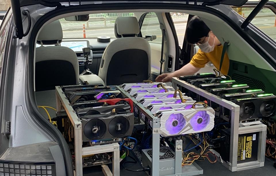 Hyundai IONIQ 5 Used for Coin Mine Experiment