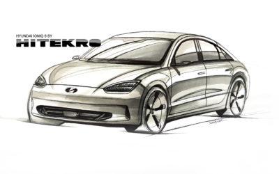 Teaser: Hyundai IONIQ 6 Rendering