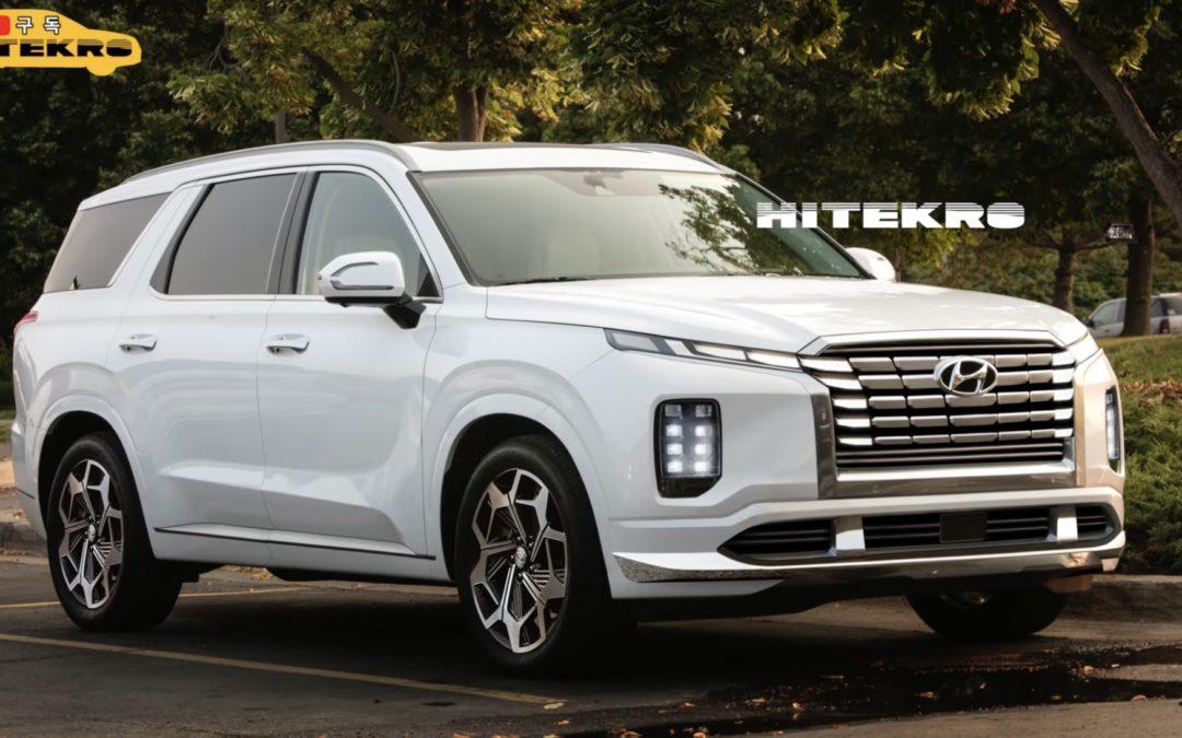 Hyundai Palisade Facelift Rendering