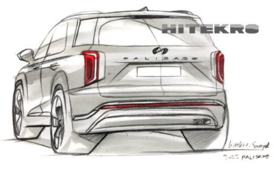 Hyundai Palisade Facelift Sketch Rendering