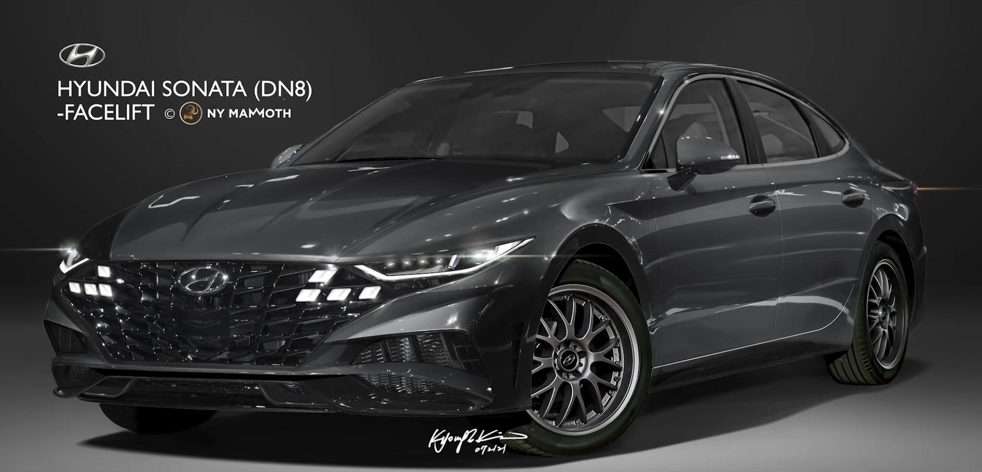 hyundai sonata facelift rendering