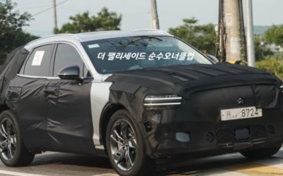 Genesis Electrified GV70 Spied In & Out