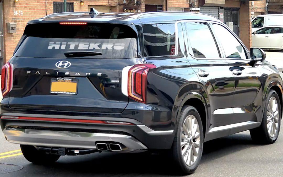 Hyundai Palisade Facelift Rear Rendering