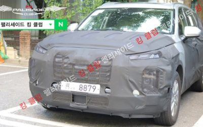 Hyundai Palisade Facelift Spied in Detail