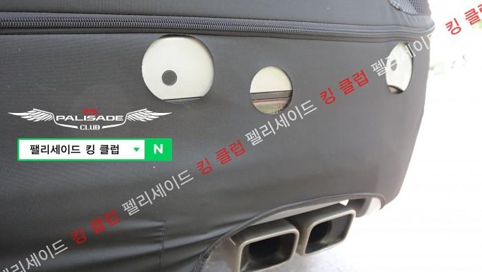 hyundai palisade facelift spied detail
