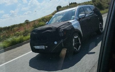 Kia Telluride Facelift Spied on the Road