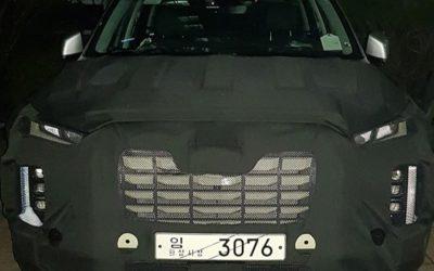 Hyundai Palisade Facelift Spied Up Close