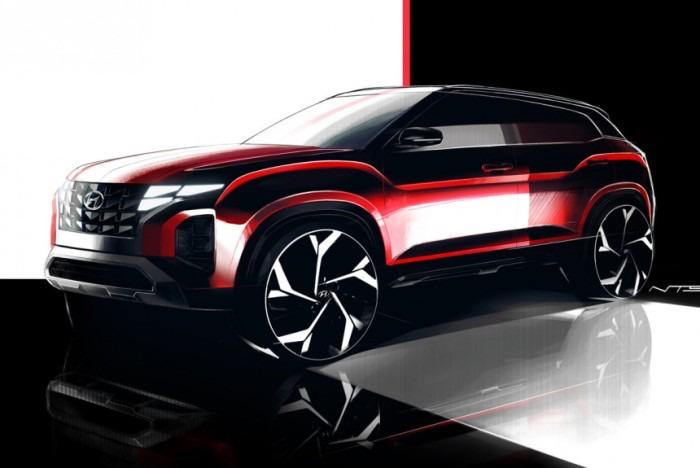 Hyundai Creta Facelift Sketches Revealed, to be a Baby Tucson